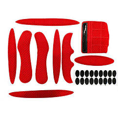 Ремнабор / накладки / подкладка смягчающая для велосипедного шлема (набор из 9 элементов с липучкой)