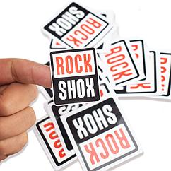 Наклейки на раму велосипеда «ROCKSHOX» (2 РАЗМЕРА, ПОШТУЧНО)