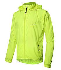 Куртка дождевик «Outto» 180012 трансформер 2-в-1 жилет с капюшоном вело дорожная походная S