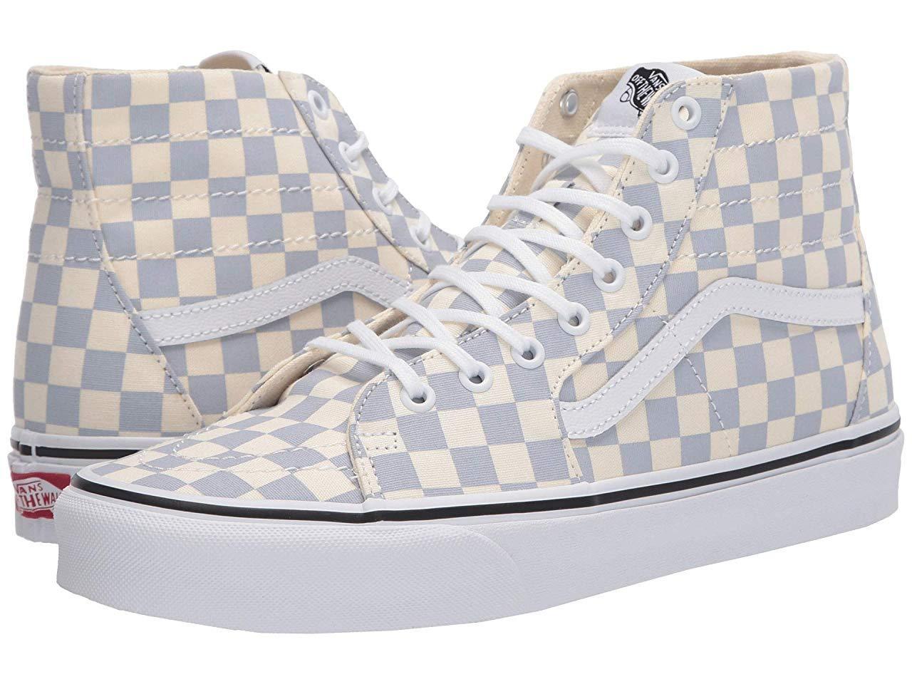 Кроссовки/Кеды Vans Sk8-Hi™ Tapered (Checkerboard) Zen Blue/True White