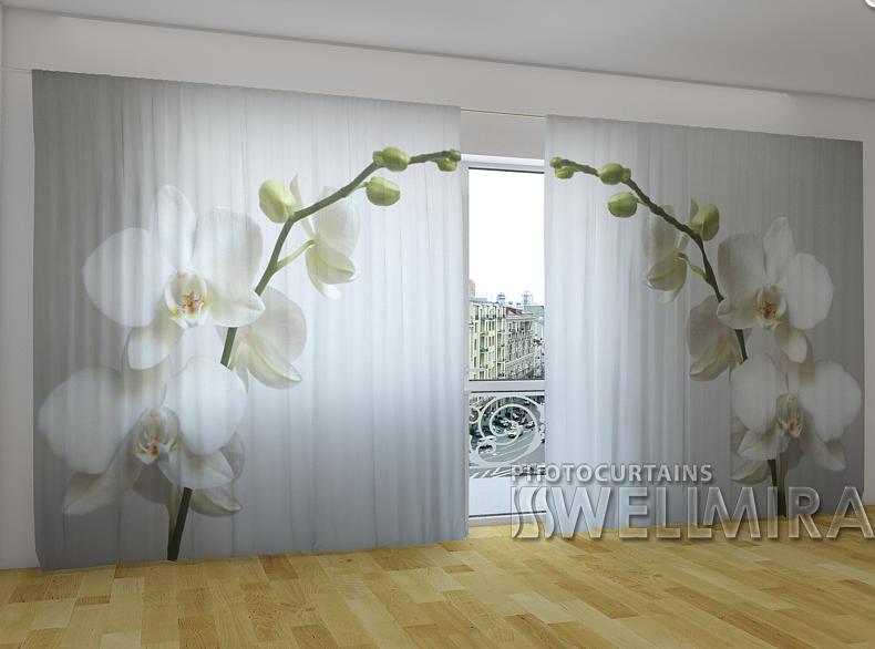 """Панорамні Фото штори """"Рижская орхидея"""" 270 х 500 см"""