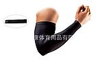 Нарукавник спортивный / вело / эластичный ЛАЙКРА с силиконовой полосой согревающий / от загара (ЧЁРНЫЙ), фото 6