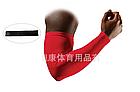 Нарукавник спортивный / вело / эластичный ЛАЙКРА с силиконовой полосой согревающий / от загара (ЧЁРНЫЙ), фото 7
