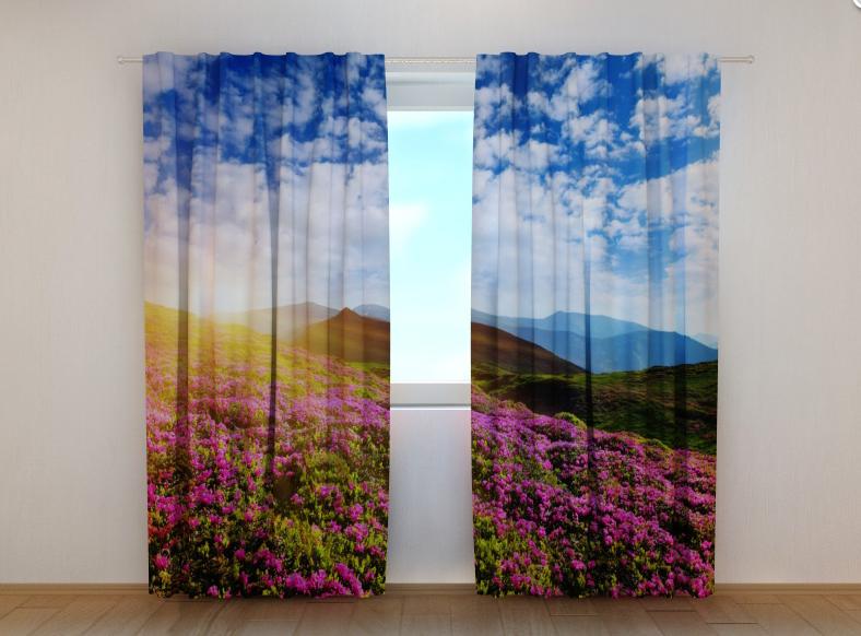 """Фото штори """"Квіти 3"""" 250 х 260 см"""