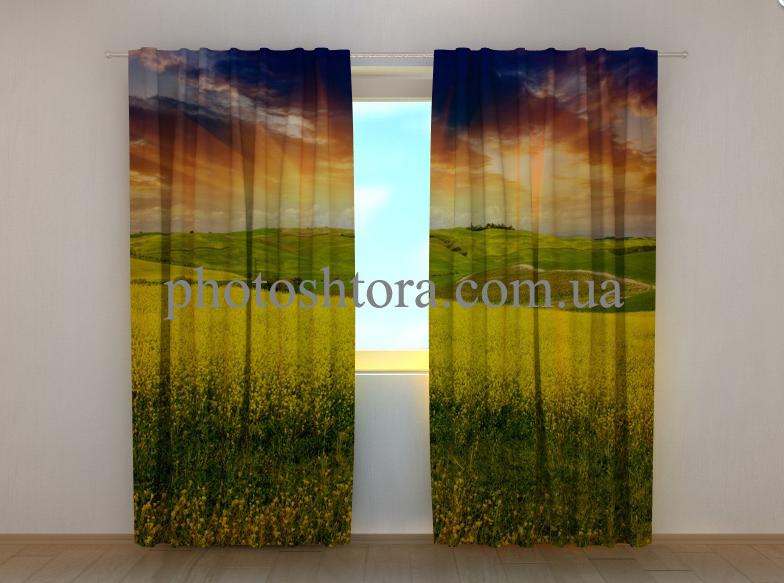 "Фото штори ""Жовте поле"" 250 х 260 см"