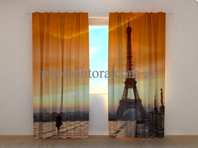 """Фото штори """"Париж і вежа"""" 250 х 260 см"""
