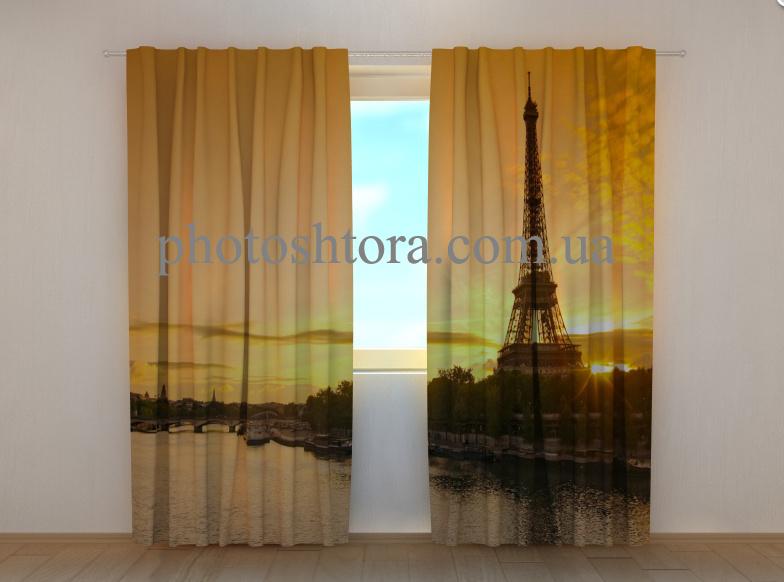 """Фото штори """"Сіна і вежа"""" 250 х 260 см"""