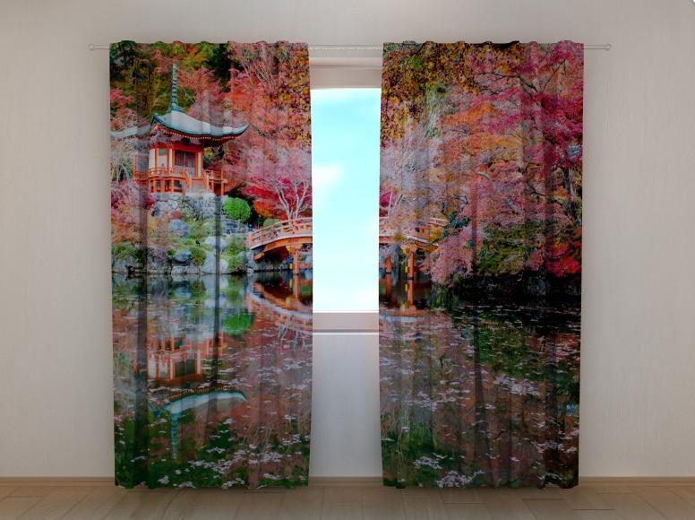 """Фото штори """"Китайский домик"""" 250 х 260 см"""