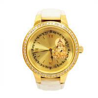 Часы Фэн Шуй  Желтый  Джамбала с движущимися мантрами