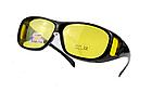 Окуляри HD Vision UV400 анти-фари для водіння жовті з поляризацією покращена оправа / панорамний огляд, фото 2