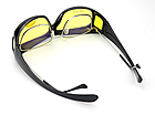 Окуляри HD Vision UV400 анти-фари для водіння жовті з поляризацією покращена оправа / панорамний огляд, фото 4