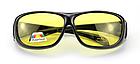 Окуляри HD Vision UV400 анти-фари для водіння жовті з поляризацією покращена оправа / панорамний огляд, фото 5