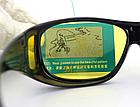 Окуляри HD Vision UV400 анти-фари для водіння жовті з поляризацією покращена оправа / панорамний огляд, фото 6
