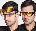 Окуляри HD Vision UV400 анти-фари для водіння жовті з поляризацією покращена оправа / панорамний огляд, фото 9