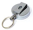 Ретрактор / брелок-рулетка на карабіні для ключів / дверних чіпів / пультів (товщина 13 мм) зі знімною кліпсою, фото 3