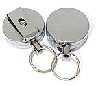 Ретрактор / брелок-рулетка на карабіні для ключів / дверних чіпів / пультів (товщина 13 мм) зі знімною кліпсою, фото 4