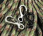 Карабін 25 мм металевий мініатюрний звужений з вушком (3 кольори), фото 2