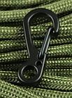 Карабін 25 мм металевий мініатюрний звужений з вушком (3 кольори), фото 4