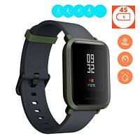 Смарт часы умные фитнес GPS водостойкие Xiaomi Huami Amazfit, зеленые