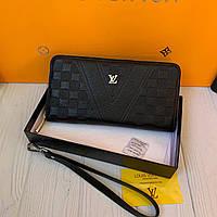 Мужской кожаный кошелёк-клатч Louis Vuitton, фото 1