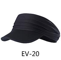 Спортивная эластичная двухсторонняя повязка на голову / визор с мягким козырьком из неопрена «NorthFlag» EV EV-20
