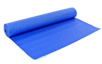 Коврик для йоги и фитнеса 4 мм R17824, синий