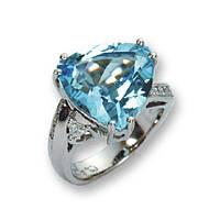 Кольцо Голубой топаз