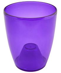 Кашпо для орхидей 18*21см прозрачный /тонированный/
