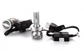 Лампочки LED H4 Can Hi/Low 5500K / 5500Lm (кт-2шт) (з обманкою)