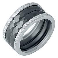 Серебряное кольцо GrayWhite с керамикой (1978078) 17.5 размер
