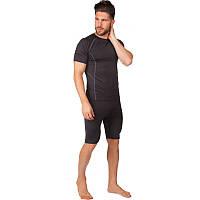 Компрессионный комплект белья мужской (футболка с коротким рукавом и шорты) LD-1102-LD-1501 размер L-3XL цвета в ассортименте Код LD-1102-LD-1501