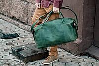 Дорожная зеленая сумка, кожаная спортивная сумка большая, фото 1