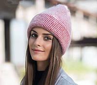 Теплая шапка бини