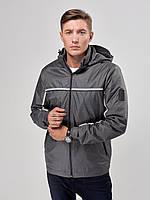 Мужская куртка ветровка Riccardo T2 Серый