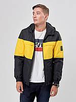 Мужская куртка ветровка Riccardo T4 Черная