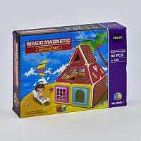 Конструктор магнитный Домик, 32 детали - 183565
