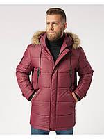 Мужская зимняя куртка-парка (мужской пуховик) Riccardo B5 Бордовый