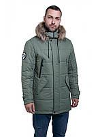 Мужская зимняя куртка-парка (мужской пуховик) Riccardo B5 Олива