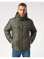 Мужская зимняя куртка-парка (мужской пуховик) Riccardo B4 Хаки