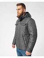 Мужская зимняя куртка-парка (мужской пуховик) Riccardo B4 Темно Серый