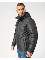Мужская зимняя куртка-парка (мужской пуховик) Riccardo B4 Черный