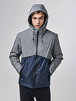 Мужская куртка ветровка Riccardo L2 Серо-синий