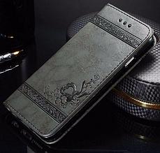 Кожаный чехол-книжка для Samsung Galaxy S7 Edge черный