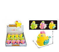 Заводные игрушки Курочка подсветка, цена за 12 штук в блоке - 224504
