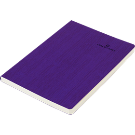 Блокнот діловий COLOR TUNES А5, 96 арк, лінія, обкладинка штучна шкіра, фіолетовий 4820103000
