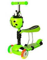Детский самокат трехколесный iTrike Maxi 3 в 1 JR 3-054-H Green