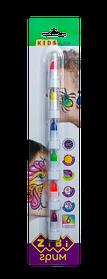 Олівці для гриму обличчя та тіла НЕОН ПОЗИТИВ, 6 кольорів неон, 22 г 9609909000