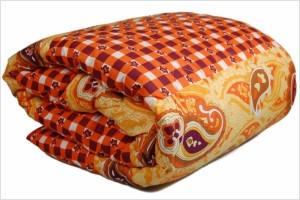Одеяло закрытое овечья шерсть (Бязь) Полуторное T-51017