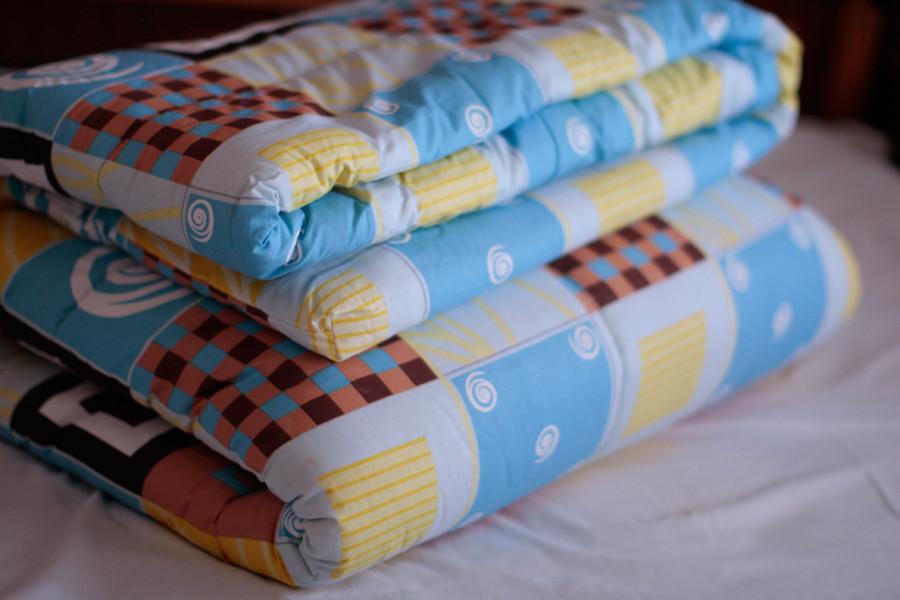 Детское одеяло закрытое однотонное овечья шерсть (Микрофибра) 110x140 T-54770