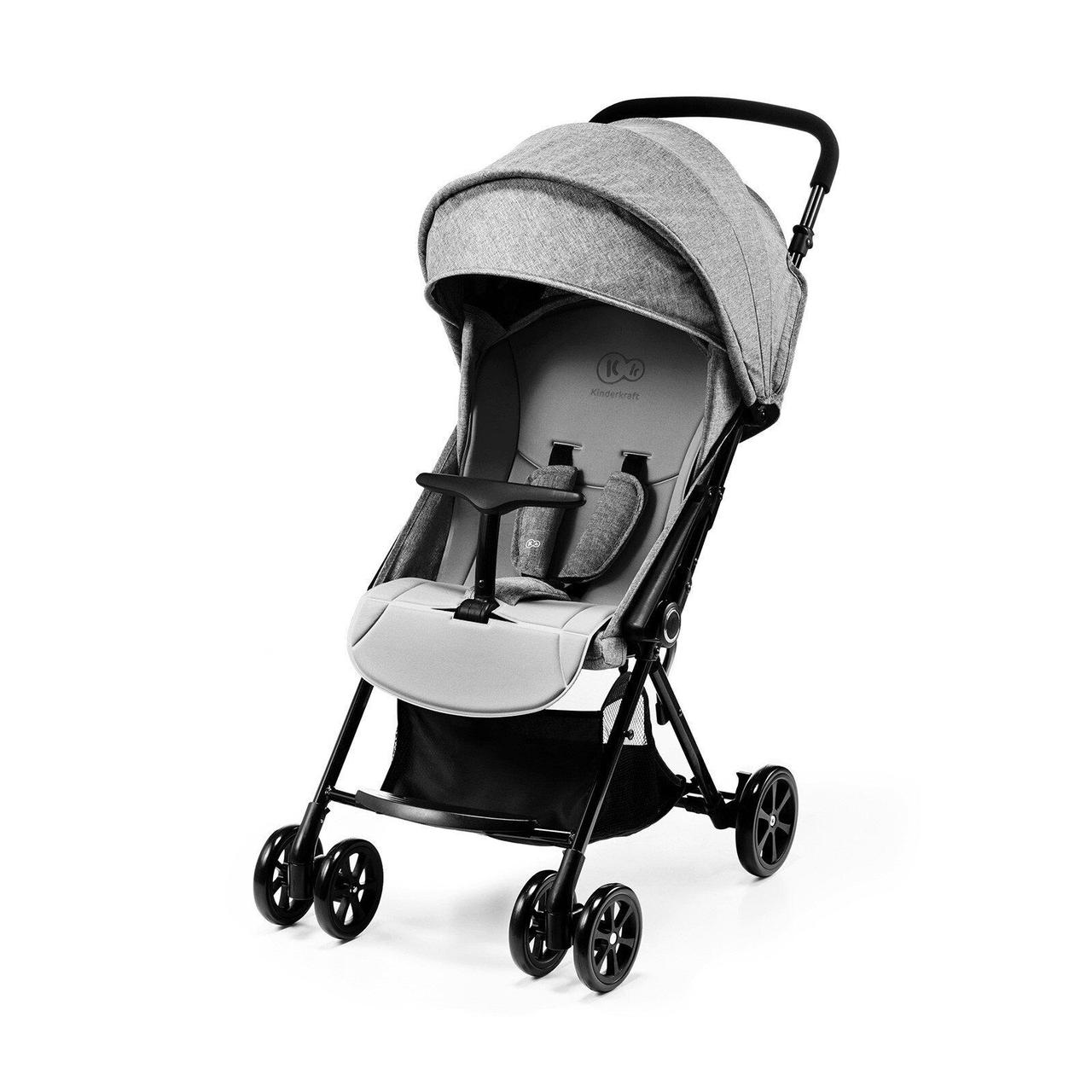 Прогулочная коляска Kinderkraft Lite Up Gray+ВИДЕО
